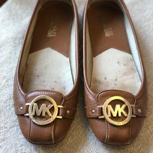Brown Leather Michael Kors Flats